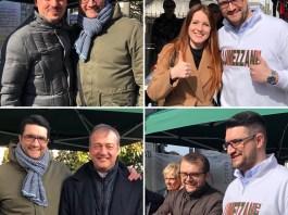 Joseph Facchini, candidato sindaco del centrodestra a Lumezzane, con alcuni rappresentanti di spicco della Lega