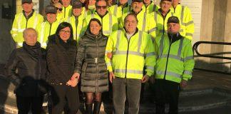 Torbole Casaglia: i volontari con il sindaco Roberta Sisti