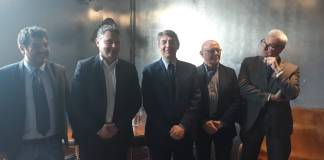 Da sinistra: Alghisi, Mottinelli, Del bono, Patitucci e Galperti