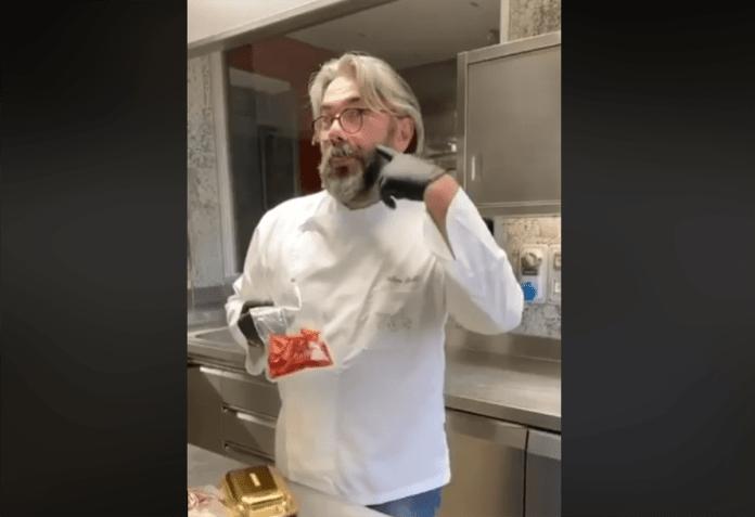Philippe Lèveillè, chef del Miramonti l'altro, foto da Facebook ufficiale