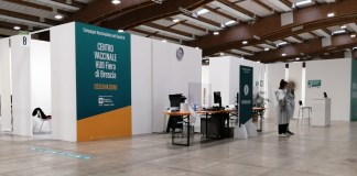 Centro vaccinale in fiera, foto BsNews.it (Federica Pizzuto)