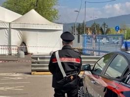 Bomba incendiaria al centro vaccinale di via Morelli - foto da Emilio Del Bono, sindaco di Brescia