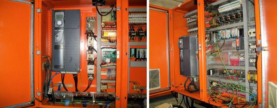 Instalación de un variador en una maquina de inyección de plástico