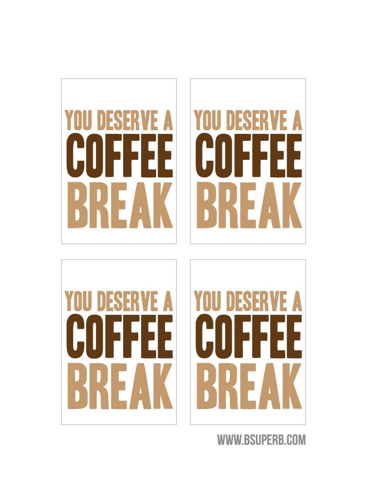 Coffee Gift Tag Free Printable B Superb