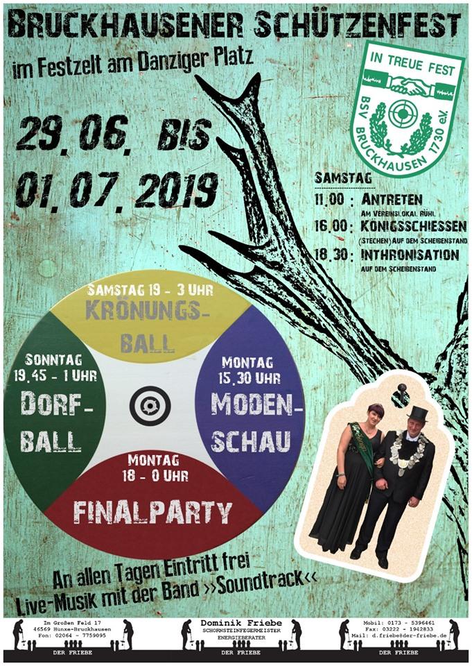 Flyer zum Schützenfest 2019