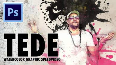 Photo of TEDE Watercolor Graphic SpeedVideo / Photoshop Action