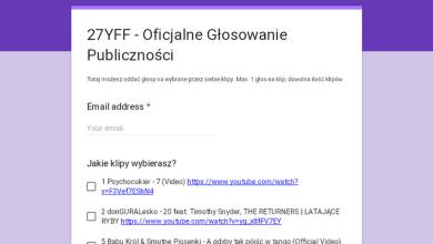 Photo of 27YFF – Oficjalne Głosowanie Publiczności
