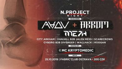 Photo of N.project Night with AKOV & AKROM + MC Kryptomedic