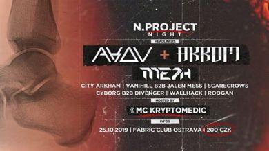 Photo of N.project Night with AKOV & AKROM + MC Kryptomedic