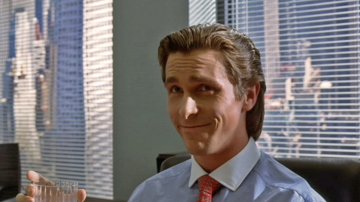 Image result for christian bale american psycho