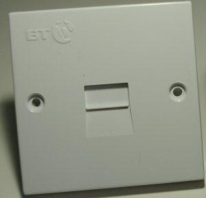 BT Master Sockets installed