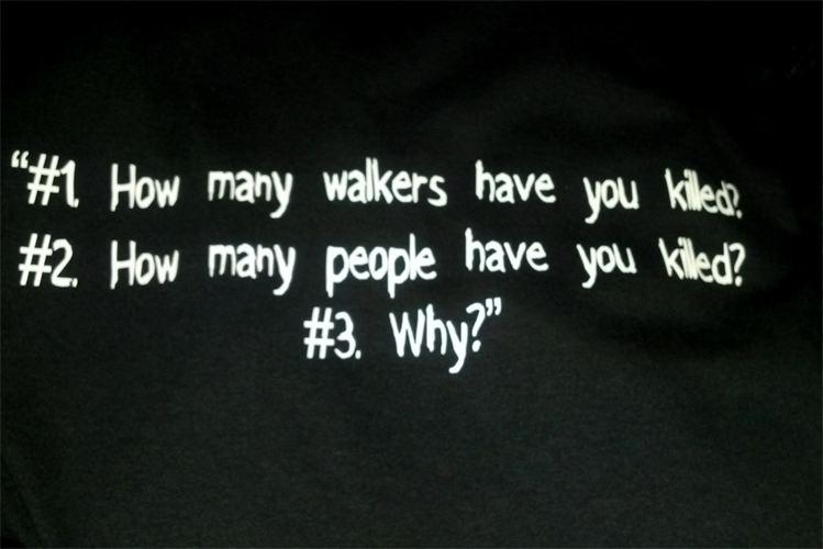 The Walking dead Rick's 3 questions