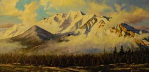 Mt. Timpanogos (oil)