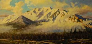 Mt. Timpanogos (oil)