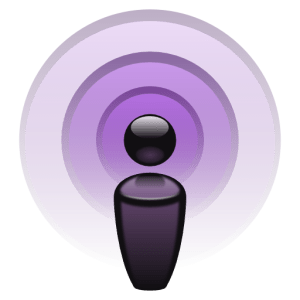 شعار تطبيق البودكاست من أبل