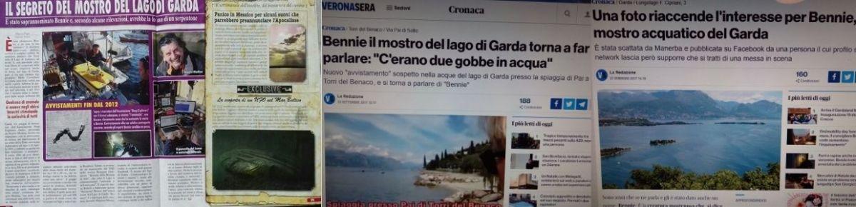 Giornali tv radiopotcast con bennie il mostro del lago di Garda1 - Bthemonster.com