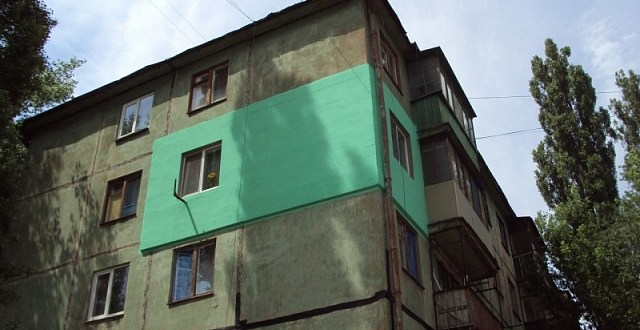 Colorful external insulation violates building codes