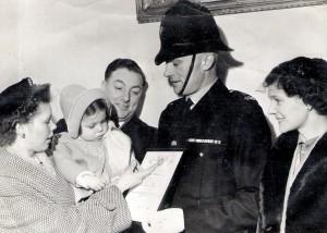 PC Ronald Thackery, 1956