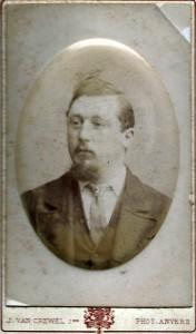 Reuben W Miller whilst in Anvers, Antwep.