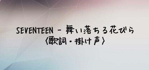 SEVENTEEN(セブチ) 舞い落ちる花びら (FALLIN' FLOWER)【歌詞・掛け声】