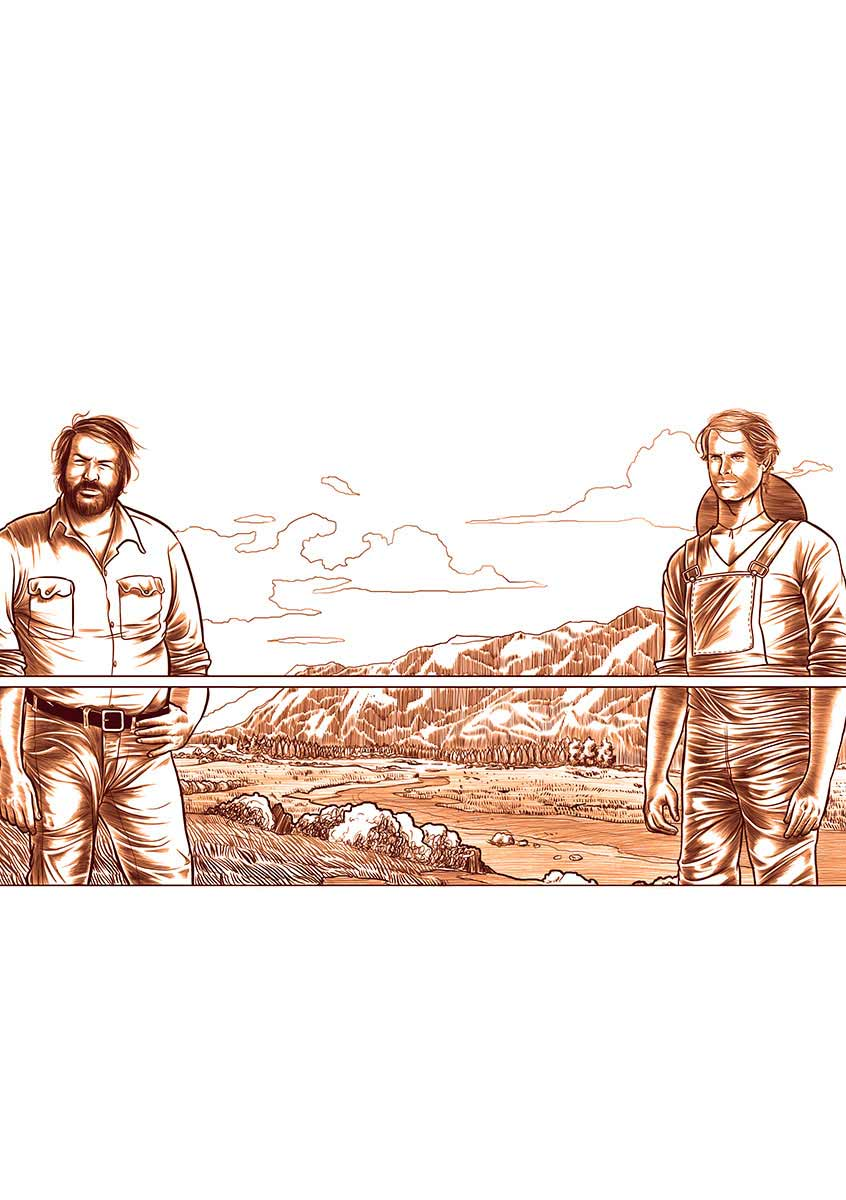 Terence Hill e Bud Spencer Stampe