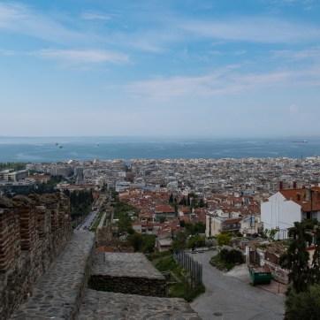 Blick von der Altstadt zum Meer, Thessaloniki