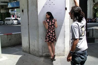 タイ王国バンコクのモデル撮影会シーン