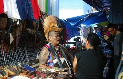 タイ王国バンコクの露天商