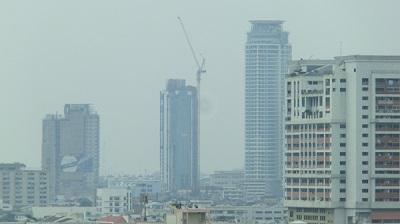 タイ王国バンコクのビル街