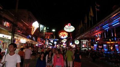 タイ王国パタヤの歓楽街1