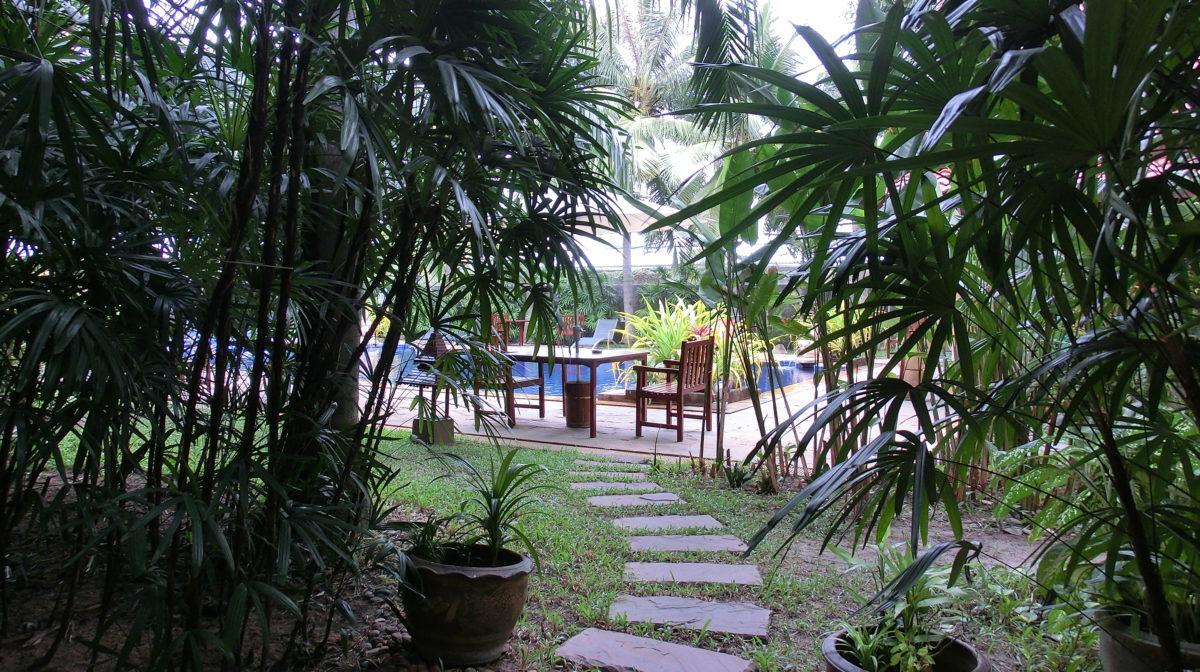タイ王国パタヤのノヴァパークホテル庭