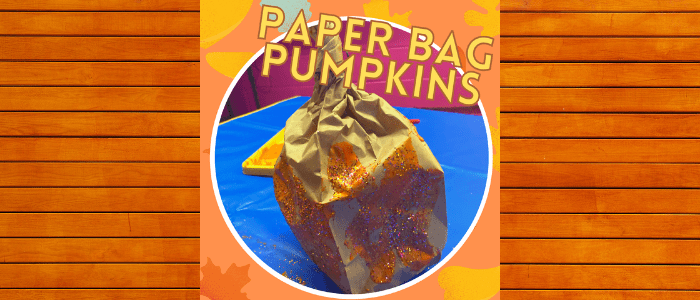 Thanksgiving Art – Apple Pie Spice Paper Bag Pumpkins!