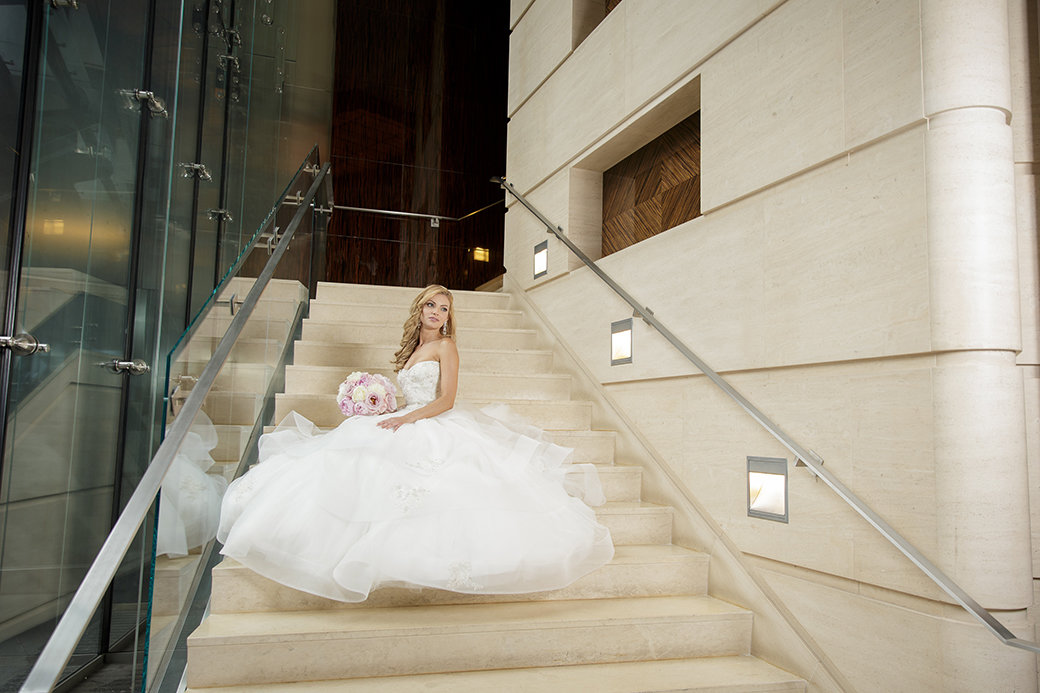 Monique Lhuillier Bridal Gown   Rose Gold Sequins Bridesmaids Gowns   Chicago Wedding   Chicago Skyline   Trump Hotel   Bubbly Moments