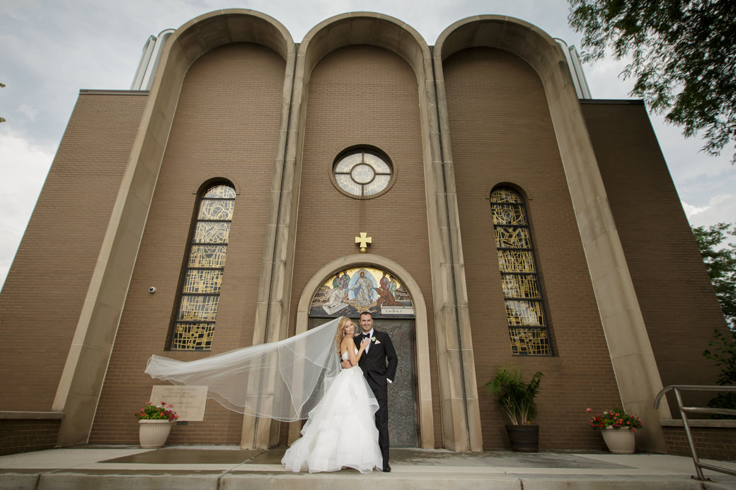 Orthodox Ceremony   Monique Lhuillier Wedding Gown   Chicago Wedding   Cafe Brauer Wedding   Bubbly Moments