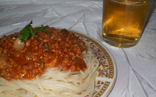 Retete Culinare - Spaghete cu soia si siuperci