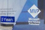 5th Year Microsoft MVP Chip