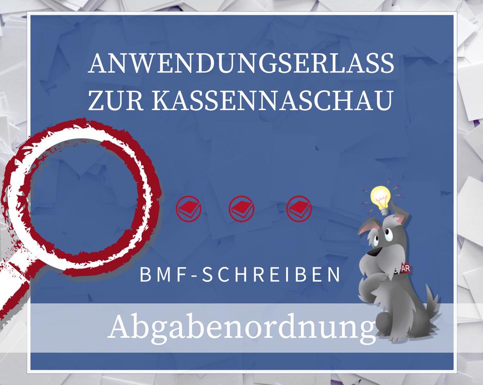 Buchhalterseele Unternehmen Abgabenordnung Kassennachschau