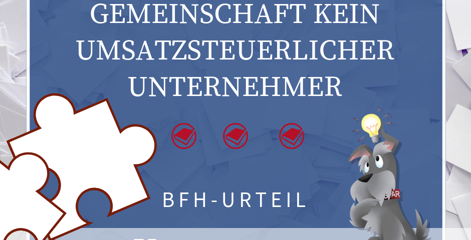 Buchhalterseele Umsatzsteuer Bruchteilsgemeinschaft