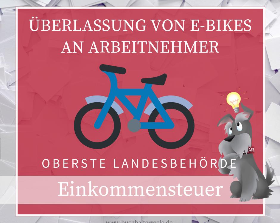Buchhalterseele Einkommensteuer Überlassung Von E Bikes