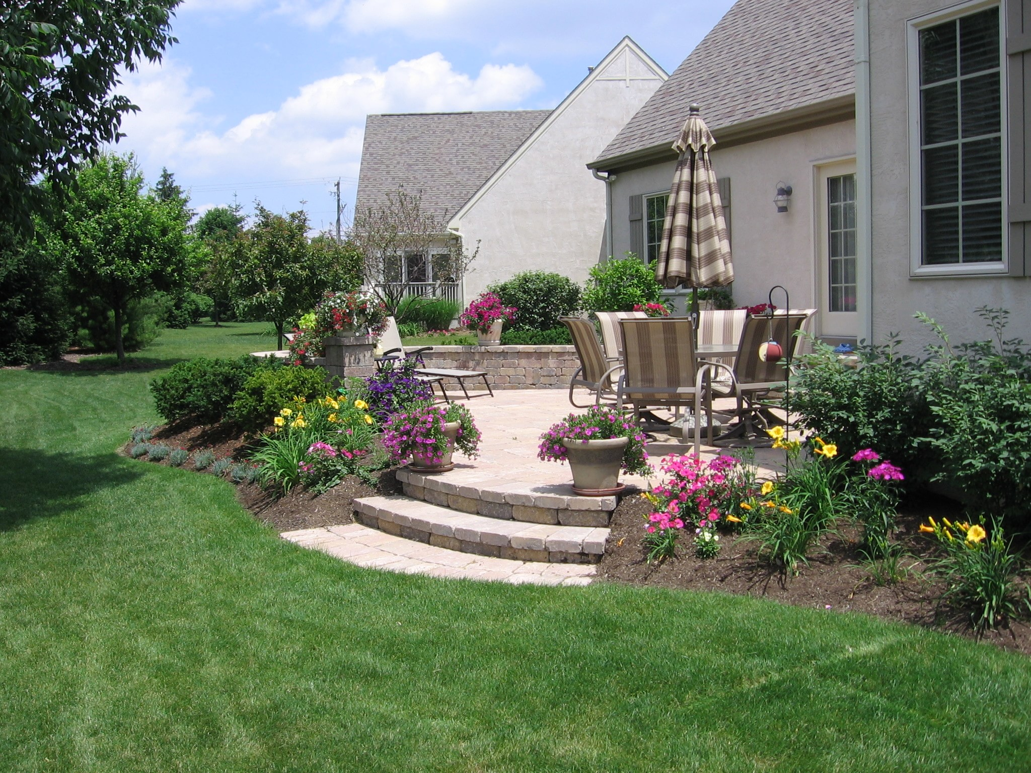 Pave Your Way to Better Living - Buck and Sons Landscape ... on Concrete Slab Backyard Ideas id=54375