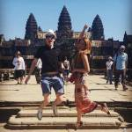 Jumping out of joy in front of the Angkor Wat