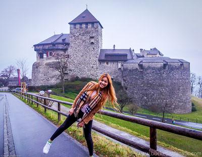 A roadtrip through Europe with a stop in Vaduz, Liechtenstein
