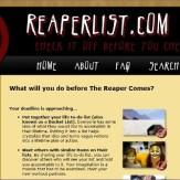 Bucket List Website: ReaperList