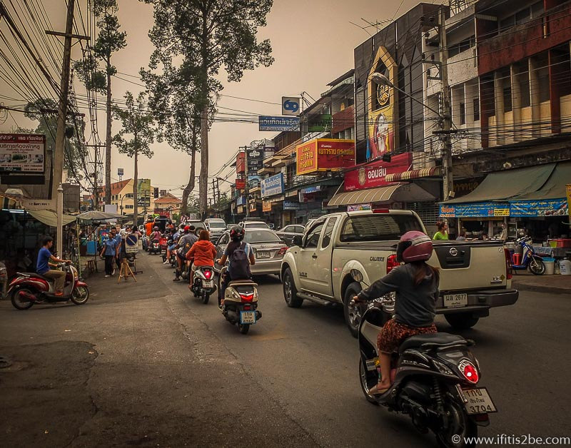 Busy street in Chiang Mai