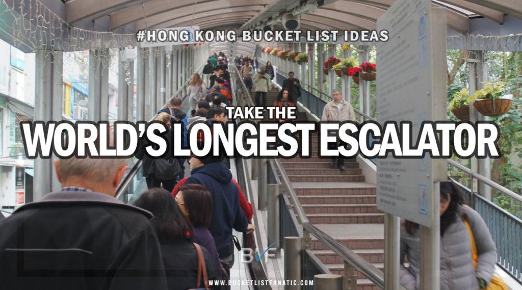 Hong Kong Bucket List - World's Longest Escalator