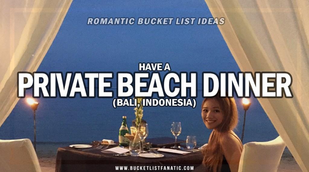 Private Beach Dinner - Romantic Experiences Around the World