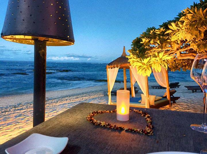 Beach Dining at Constance Belle Mare