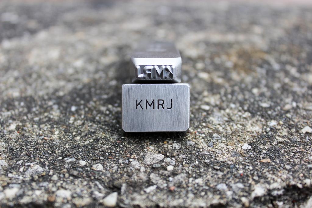 KMRJ Letters Steel Hand Stamp