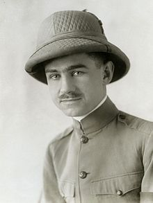 Lowell Thomas in the Mideast in 1918.