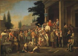 "George Caleb Bingham's ""County Election."" Bingham is famous for his portraits of 19th century American life."
